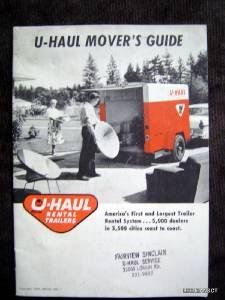 Vintage 1959 U-Hall Rental Trailers Movers Guide Booklet EX