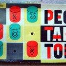 Vintage Peg Tak Toe Game by Pressman Wood Pegs
