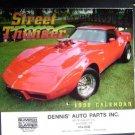 Vintage 1998 Street Thunder Car Calendar ~ Dennis Auto Parts Milford, Ct