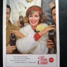 Vintage 1963 Coke~Things go better with Coke Crowd game Cheers Magazine Adv