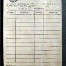1950s - D Silver Hardware New York N Y Dasco Key Order Adv Post Card~ Locksmiths