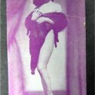 Arcade Exhibit Card 1940's Risque Girlie Pin-Up Purple Tint C