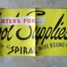Vintage 1950s THE SPIRAL Store Window ~ School Supplies Advertising Display Sign