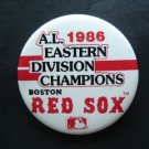 "1986 A. L. Eastern Division Champions Boston Red Sox Pin 3"" Diameter"
