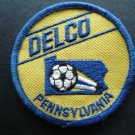 """Delco Pennsylvania Advertising Soccer Cloth Patch 3"""" Round"""