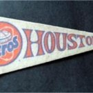 "Houston Astros Mini Baseball Pennant 9"""