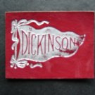 "Vintage Dickinson College 1910 Leather Pennant Patch 2 1/2"" by 2"""
