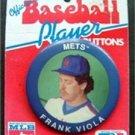 "Frank Viola New York Mets 1990 Button Pin 3"" Diameter on Original Cardboard"