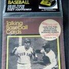 1989 CMC Talking Baseball Card 33 RPM Record # 6 Carlton Fisk Hits WS Homer