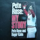 Pete Rose My Story Baseball Book with Roger Kahn 1989
