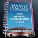 1995 New York Giants Football Official Information Guide Spiral Bound