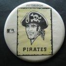 "Pittsburgh Pirates Baseball Pin Large 6"" Diameter Faded"