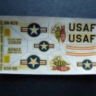 Vintage USAF B 66 Bomber Airplane Model Decal Sheet Unused