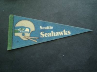 "Vintage NFL Football Mini Pennant 9"" Seattle Seahawks"