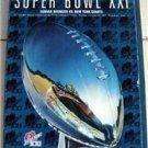 Super Bowl XXI Game Program Jan 1989 Denver Broncos vs New York Giants