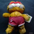 "Garfield the Cat Armchair Athlete Jogger Bean Bag Plush Figure 10"" Tall with Tag"