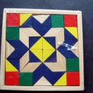 "Darice Rhombus Puzzle with Colored Wood Tiles 5 1/4"" Square New Sealed 1067-23"