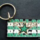 "Dallas Stars NHL Hockey Plastic Key Chain Tag Express 2 1/4"" Light Green"