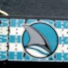 "San Jose Sharks NHL Hockey Plastic Key Chain Tag Express 2 1/4"""