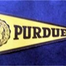 "Vintage Purdue University Mini Pennant Paper Sticker 8"" by 3 1/2"" Unused"
