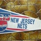 New Jersey Nets NBA Basketball Pennant Trench Mfg  w Cardboard