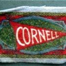 CORNELL UNIVERSITY B32 Felt Tobacco Blanket Pennant Style w Fringe 1910s LtBl