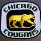 Defunct WHL Hockey Chicago Cougars Patch 6""