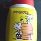 Peanuts Gang  with Charlie Brown Snoopy and Woodstock  Yellow Thermos