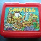Garfield the cat Red Plastic Lunch Box No Thermos