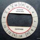 Cadaco All-Star Baseball Game Disk Elston Howard NY Yankees Catcher