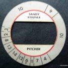 Cadaco All-Star Baseball Game Disk Sandy Koufax Brooklyn Dodgers Pitcher