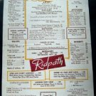May 31 1956 King Cole Room ~ Ridpath Luncheon Menu ~ Boston Mass or Area