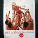 Vintage 1963 Coke~Refreshing new feeling~Women Life Guard Magazine Advertisment