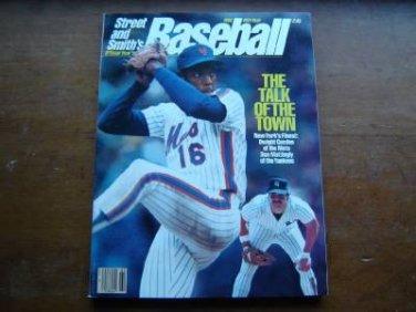 1986 Street & Smith's Baseball Magazine Dwight Gooden Don Mattingly Cover
