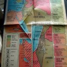 Hartford Times ~ Original news page #12C Map of the MIDEAST June 22 1969 Poster