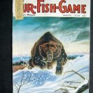 MARCH 1975 FUR-FISH-GAME Attack BEAR Cover by Halstead Fish Hunt Outdoors Sport