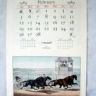 1989 Currier & Ives Calendar Travelers Ins Hartford Ct