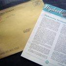 Sept 1955 Hydrol Chemical Bulletin #78 Embalming plus orig envelope ~ Funeral Ex
