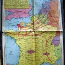 Sunday News ~ Original pages #12,13 ~ WWII Map The 4th Reich? Mar 9 1947