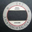 Cadaco All-Star Baseball Game Disk Steve Barber Pitcher