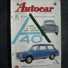 Sept 19 1958  Autocar Magazine Austin A 40