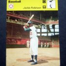 1977-1979 Sportscaster Card Baseball Jackie Robinson Brooklyn Dodgers 09-23