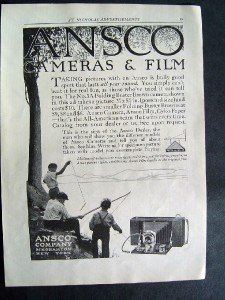 1916 Ansco Cameras & Film St Nicholas Advertisement