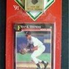 MVP BB 1991 Score Card & Pin Chicago White Sox Frank Thomas