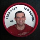 1966-1967 NHL Hockey Coin # 48 Leo Boivin Detroit Red Wings