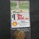 2000 McDonalds St Louis Cardinals Baseball Bronze Coin and Card Jim Edmonds RARE