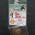 2000 McDonalds St Louis Cardinals Baseball Bronze Coin & Card Fernando Vina RARE
