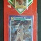 MVP BB 1991 Score Card & Pin Mariners Ken Griffey Jr