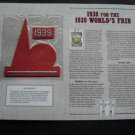 1938 for the 1939 Worlds Fair Cooperstown Collection Baseball Patch