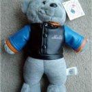 """New York Mets Baseball Teddy Bear w Vinyl Jacket 13"""""""